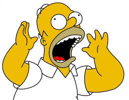 panic freaked out scared homer