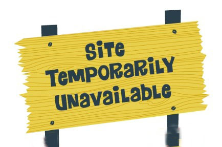unavailable sign outage